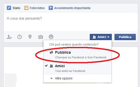 come impostare privacy post facebook 2