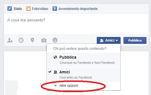 come impostare privacy post facebook 4