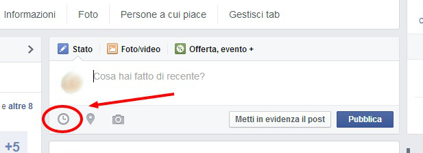 come programmare post pagina facebook 1
