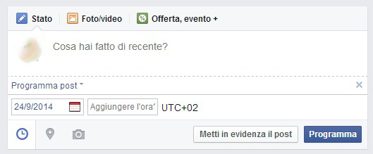 come programmare post pagina facebook 2